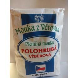 Pšeničná mouka z Věrovan polohrubá výběrová 1x1kg