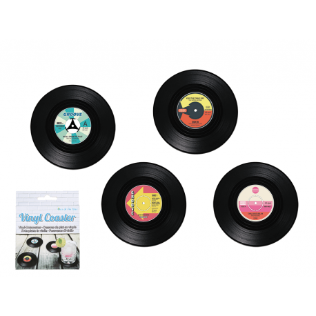 Retro vinylové podtácky - gramofonové desky