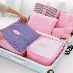 Sada cestovních organizérů do kufru - růžová