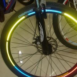 Reflexní pásky na kolo -zelená