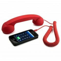 Retro sluchátko na mobil červené