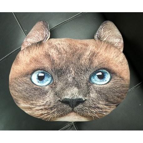 Polštář v designu kočky - hnědý