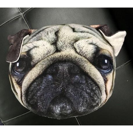 Polštář v designu psa - šedý