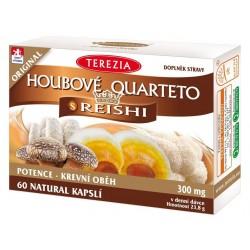 Houbové Quarteto s reishi 60 kapslí