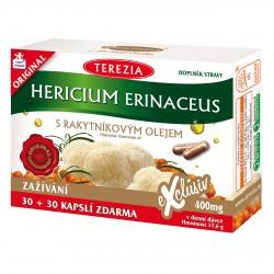 Hericium erinaceus s rakytníkovým olejem 30+30 kapslí