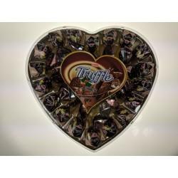 Truffle Velké srdce oříšek Elvan bonboniera 280g
