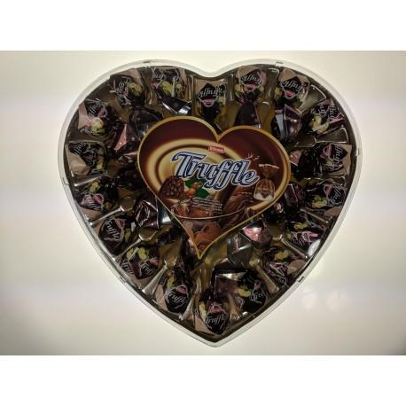 Truffle srdce oříšek Elvan bonboniera 280g