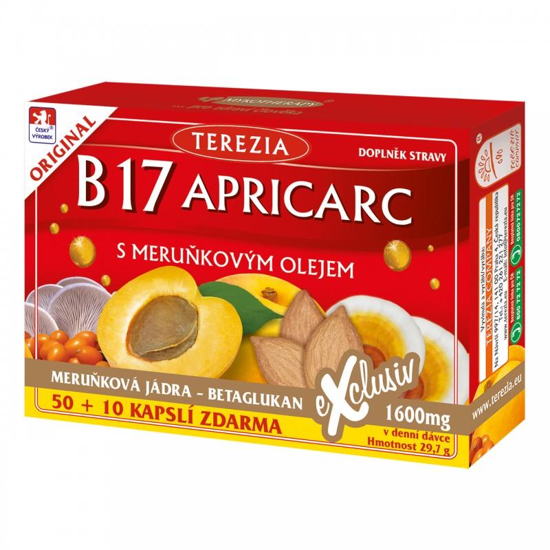 B17 Apricarc s meruňkovým olejem 50+10 kapslí