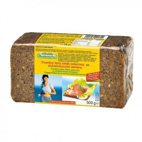 Trvanlivý žitný chléb celozrnný se slunečnicovými semeny 500 g