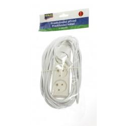Prodlužovací kabel 230V bílý 4 zásuvky, 3 metry dlouhý Fairline