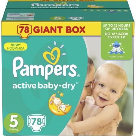 Pampers Plenky Active Baby Giant box Maxi S4 11-18kg 1x78ks