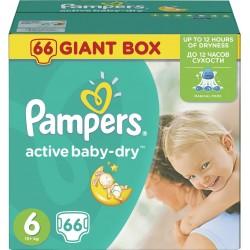 Pampers Plenky Active Baby Giant box Maxi S4 +15kg 1x66ks
