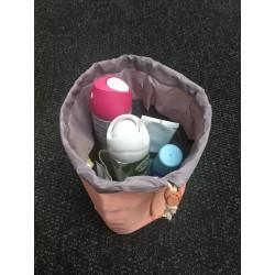 Cestovní taška na kosmetiku - pudrová