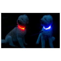 Svítící obojek - modrý XS