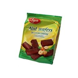Oplatky s oříškovou příchutí v kakaové polevě