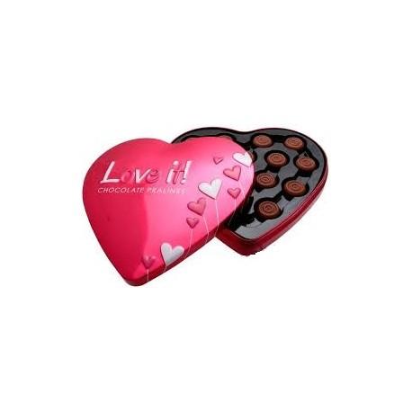 Pralinky z mléčné čokolády ve tvaru srdce - Love it