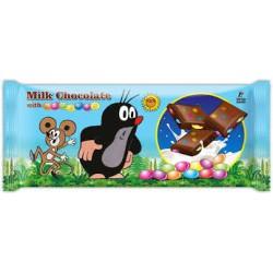 Mléčná čokoláda s dražé - Krteček 20 kusů