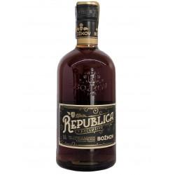 Třtinový tmavý rum Republika Exclusive Božkov 38% 1x0,7l
