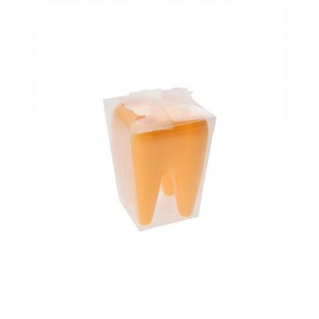Zub - držák na kartáčky - žlutý