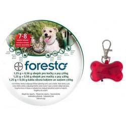 Obojek pro kočky a psy 38 cm + přívěsek zdarma - 1,25g + 0,56g - Foresto