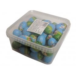Velikonoční mléčná čokoládová vajíčka dutá 12,5g (42ks+-5%) plus dóza zdarma