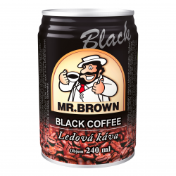 Černá káva v plechovce - MR. Brown 240 ml