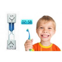 Přesýpací hodiny na čištění zubů - modré
