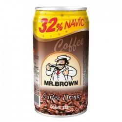 Černá káva s mlékem v plechovce + 32% zdarma - MR. Brown 330 ml