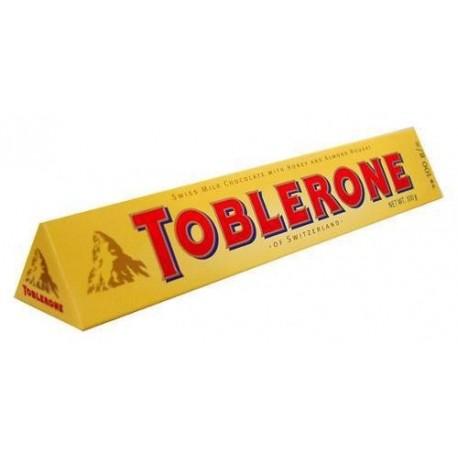 Švýcarská mléčná čokoláda s medovo-mandlovým nugátem - Toblerone 35g