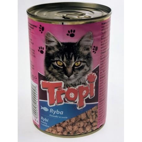 Kompletní krmivo pro kočky ryba Tropi- 1x415g