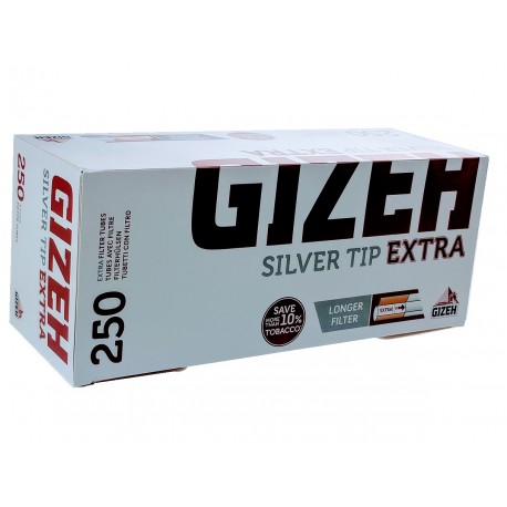 Cigaretové dutinky Silver Tip Extra Gizeh 1x250 ks