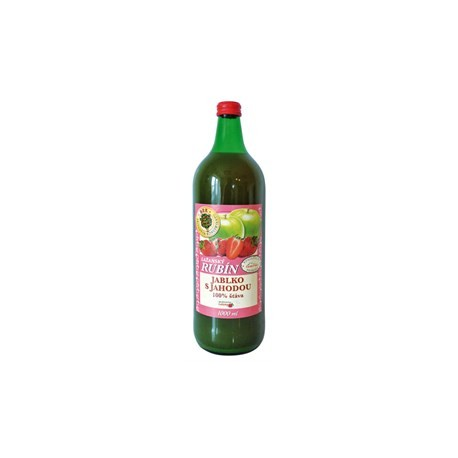 Džus Jablko a Jahoda 100% šťáva - Rubín 1l