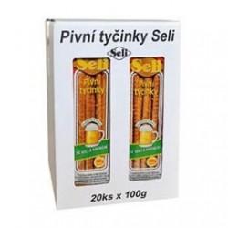 Tyčinky k pivu se solí a kmínem - Seli 20x100 g