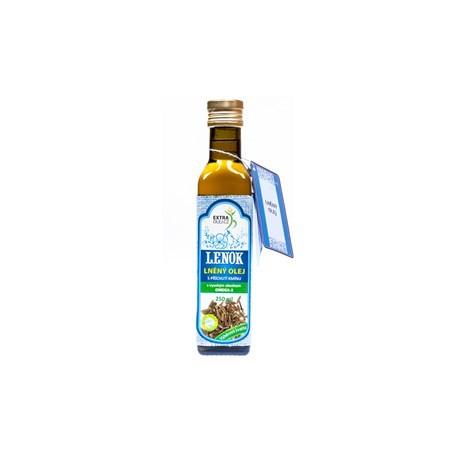 Olej lněný s česnekem - Lenok 250ml
