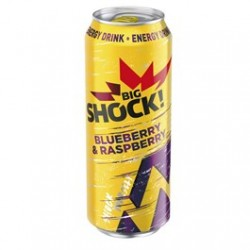 Energetický nápoj Raspberry&blueberry - Big Shock 6x500ml