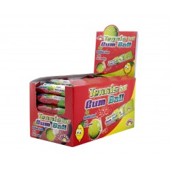 Tenisové žvýkačky s kyselým práškem - Sweet ń Fun 48x20g