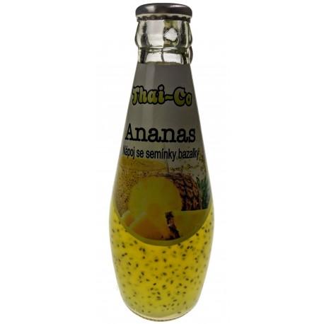 Nápoj se semínky bazalky - Ananas - Thai-co