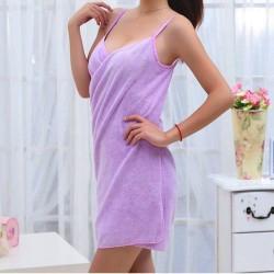 Ručníkové šaty - fialové