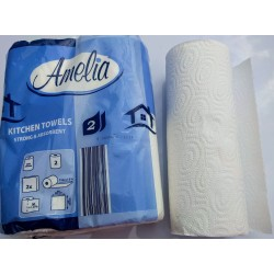 Kuchyňské utěrky papírové, silné a savé Amelia 2x11metrů