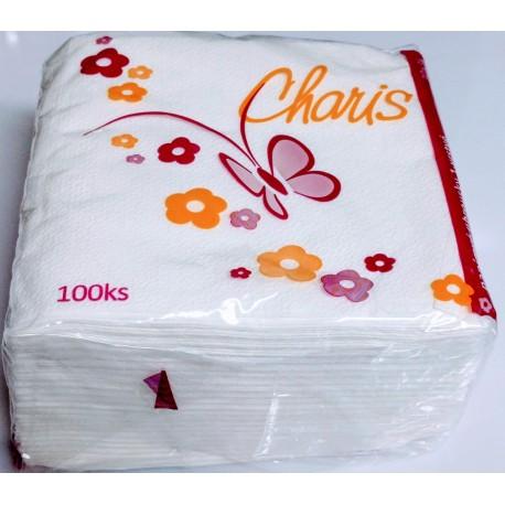 Papírové ubrousky Charis 1x100ks