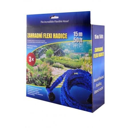 Zahradní flexi hadice 15m modrá