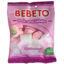 Marshmello bonbóny Pink and White - Bebeto 60g