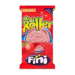 Jahodové kyselé žvýkací role - Fini 20g