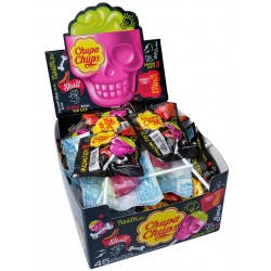 Lízátko 3D skull strawberry+lime - Chupa Chups 45x15g