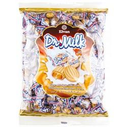 Mléčné karamelové bonbóny s náplní Dr. Milk - Elvan 1 kg
