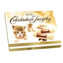 Jazýčky s mléčnou a bílou čokoládou - Carla 100g