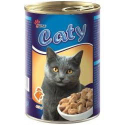 Kočičí konzerva s drůbežími kousky - Caty 415g