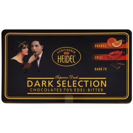 Kolekce hořkých čokolád plechová krabička 1x120g