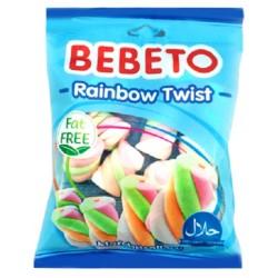 Bonbóny Marshmallow Rainbow Twist- Bebeto 60 g