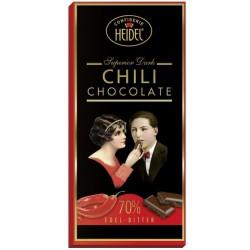 Chili hořká čokoláda - Heidel 30g